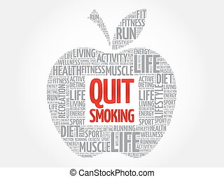 Quit Smoking apple word cloud