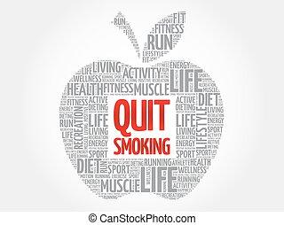 Quit Smoking apple word cloud