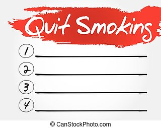 Quit Smoking blank list