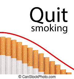 Quit smoking text graph cigarettes