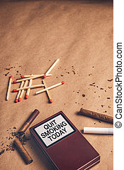 Quit smoking today concept