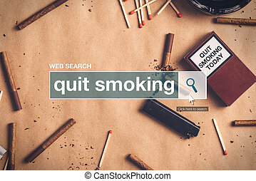 Quit smoking web search box glossary term