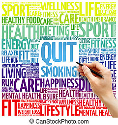 Quit Smoking word cloud background