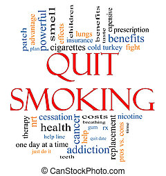 Quit Smoking Word Cloud Concept with great terms such as...
