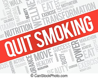 Quit Smoking word cloud