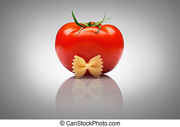 Quite an imposing sir tomato. - A nice ripe tomato with a...