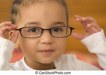 Quite Studious 2 - A beautiful young mixed race girl wearing...