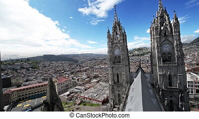 Quito Basilica Panning View - Panning view of the basilica...