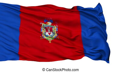 Quito City Isolated Waving Flag
