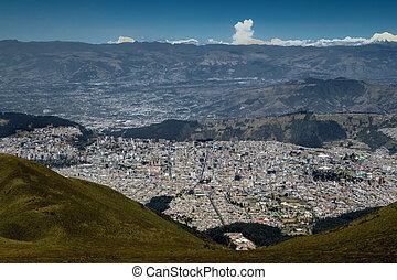 Quito, Ecuador - View from the Quito's TeleferiQo. The...