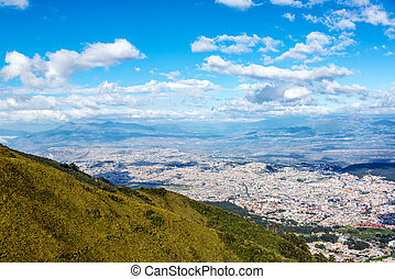 Quito from Above - View of Quito, Ecuador from high above ...