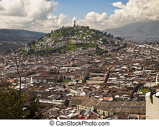Quito Viewpoint of El Panecillo - El Panecillo is a hill ...