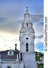 Quito's Cathedral Steeple - Steeple of the Cathedral in...