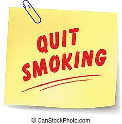 quitter, message, vecteur, fumer