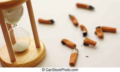 quitter, temps, fumer, sablier