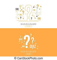 Quiz background vector.