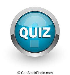 quiz blue glossy web icon - blue glossy web icon