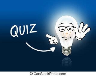 Quiz Bulb Lamp Energy Light blue Idea Background