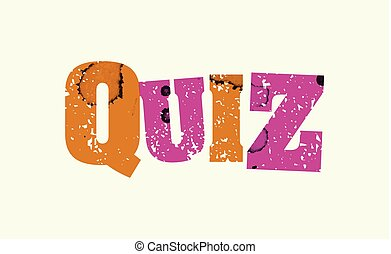 Quiz Concept Colorful Stamped Word Illustration