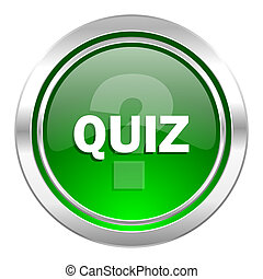quiz icon, green button