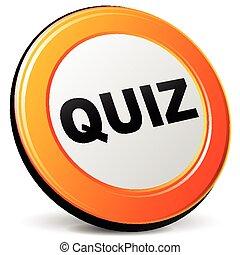 quiz icon - illustration of quiz 3d design orange icon