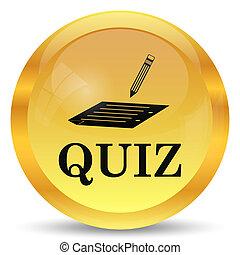 Quiz icon. Internet button on white background.
