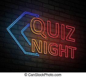 Quiz night concept.