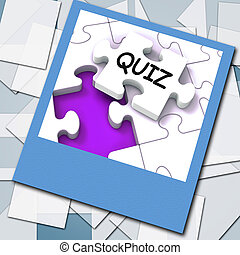 Quiz Photo Means Online Exam Or Challenge Questions