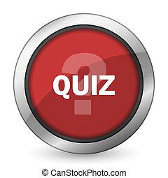 quiz red icon