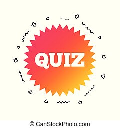 Quiz sign icon. Questions and answers game. Vector - Quiz ...