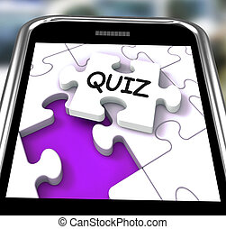 Quiz Smartphone Means Online Exam Or Challenge Questions