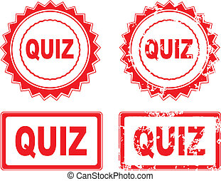 Quiz Stamp over a white background