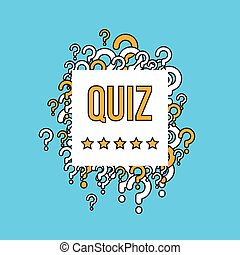 Quiz test vector background with question marks