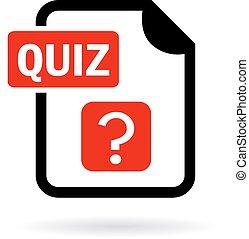 Quiz vector icon