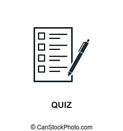 Quiz vector icon symbol. Creative sign from education icons collection. Filled flat Quiz icon for computer and mobile
