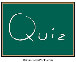 Quiz words on Chalkboard - Chalkboard with the words %...