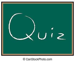 Quiz words on Chalkboard
