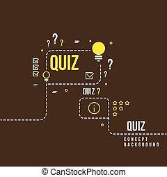 Quizzes, school exam quiz vector abstract background