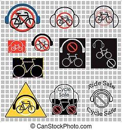 quoique, écouteurs, cyclisme, non