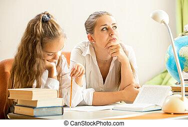quoique, rêver, fille, devoirs, mère