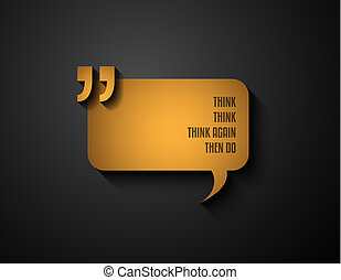 Quotation Mark Frame with Flat style and space for text....