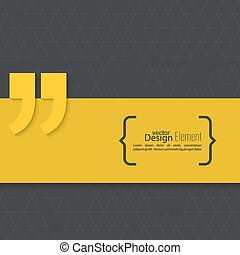 Quotation Mark. - Vector abstract background. Quotation...