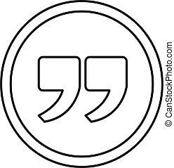 Quotation mark sign icon