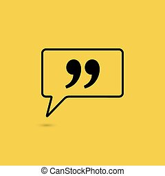 Quote sign icon.