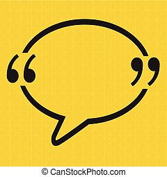 Quotation Mark Speech Bubble sign icon Illustration design