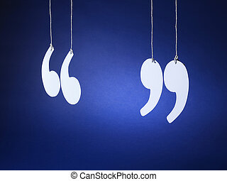 quotation marks inverted commas - Stock Image - shot of...