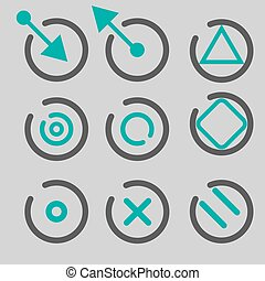 Quote, asterisk footnote icons. Hashtag social media and ampersand symbols