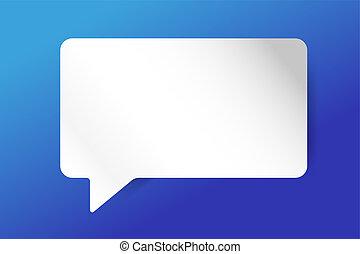 Quote blank template bubble empty design - Quote bubble...