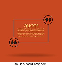Quote Blank Template Card