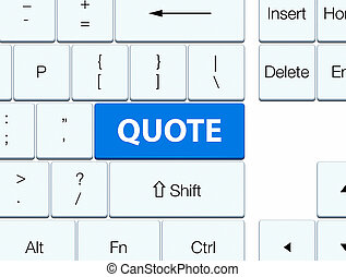 Quote blue keyboard button